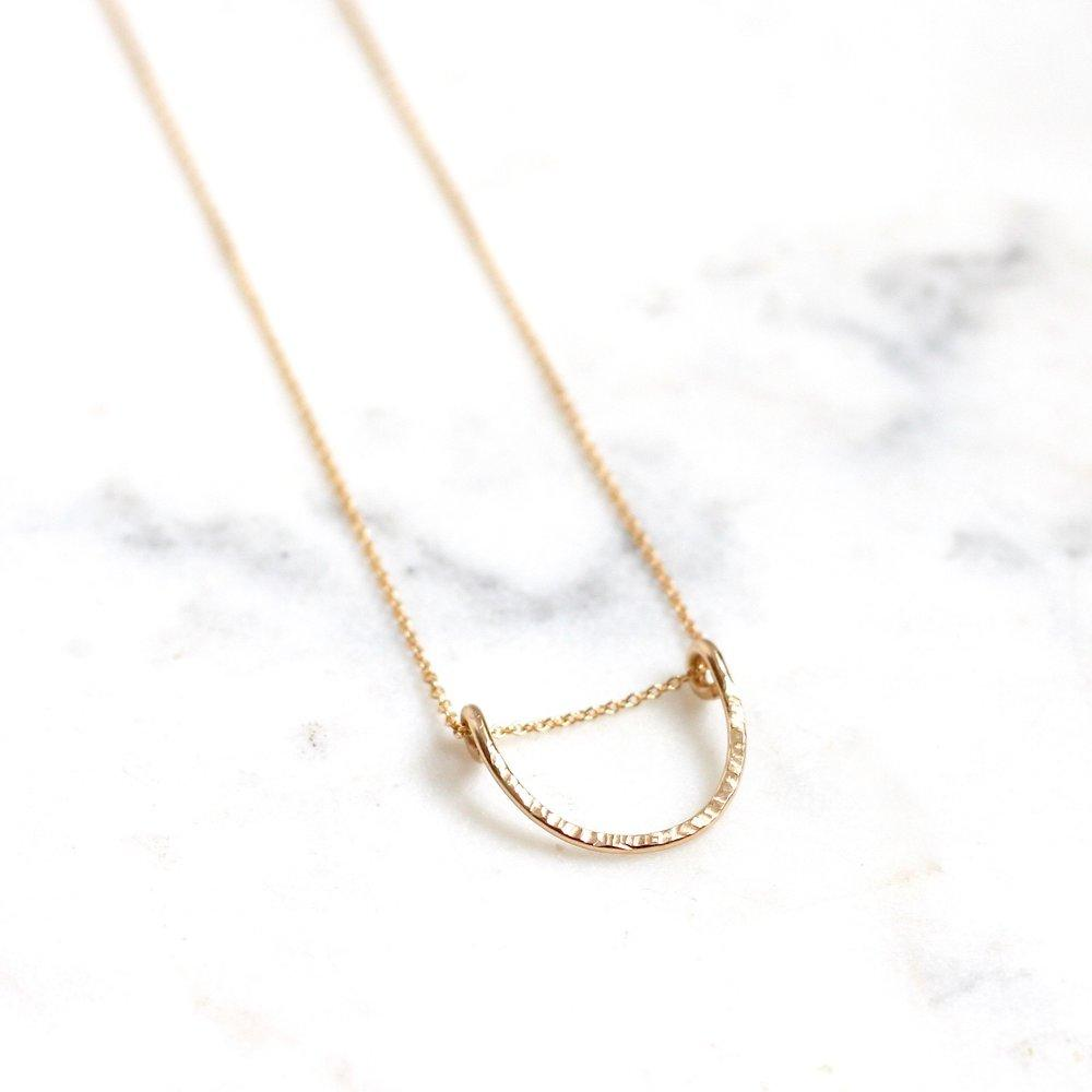 gold textured necklace