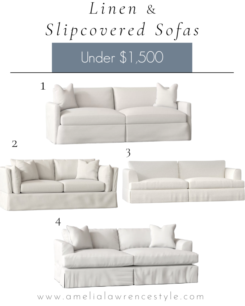 pictures of linen sofas