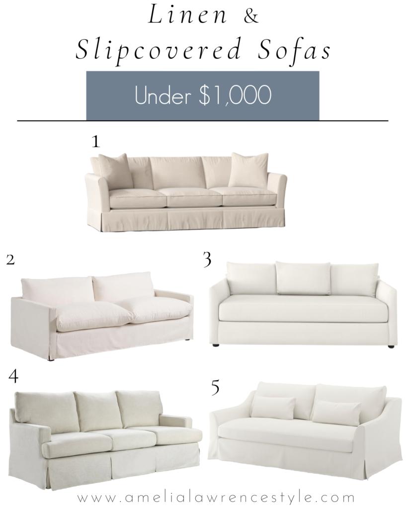 linen sofa pictures